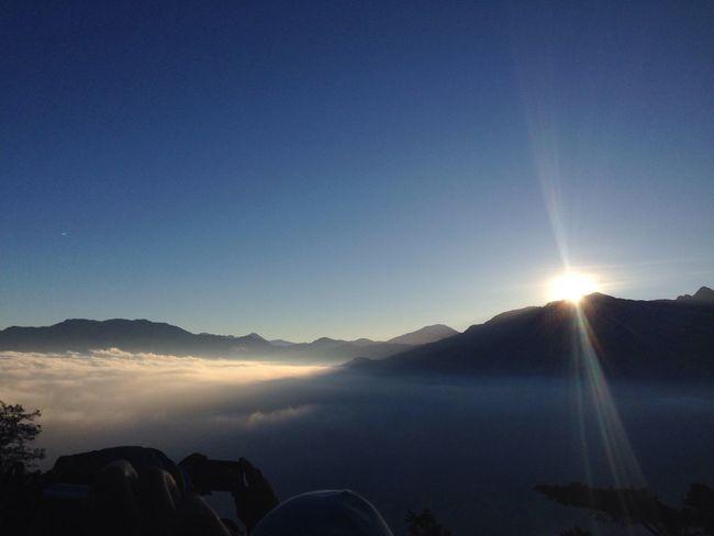阿里山雲海,2451公尺,9攝氏度。冷顛掉,美顛掉?
