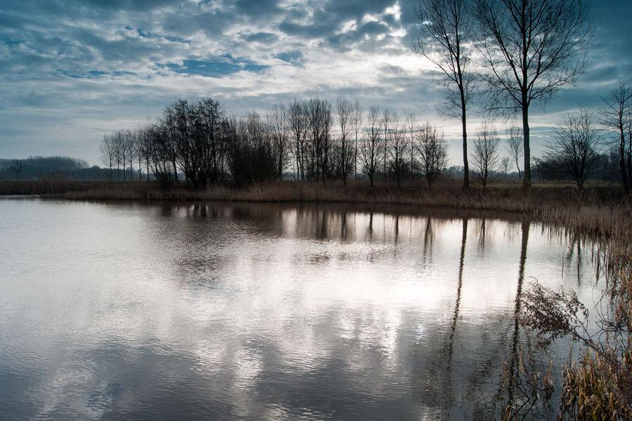 Near Rode Sluis, Zeeuws Vlaanderen Sony A700 EyeEm Market © Cloud - Sky Lake Landscape Nature Reflection Scenics Silhouette The Netherlands Tree Water Zeeland  Zeeuws Vlaanderen