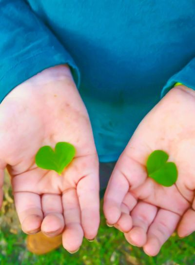 Human Hand Human Body Part Close-up Environmental Issues Holding Green Color People Outdoors One Person Day Clover Clover Leaf Good Luck Luck Of The Irish Shamrocks Shamrock Green Leaf Nature Lover Love Heart Heart Shape Palm Palm Of Hand Showing Playing Outside EyeEm Ready