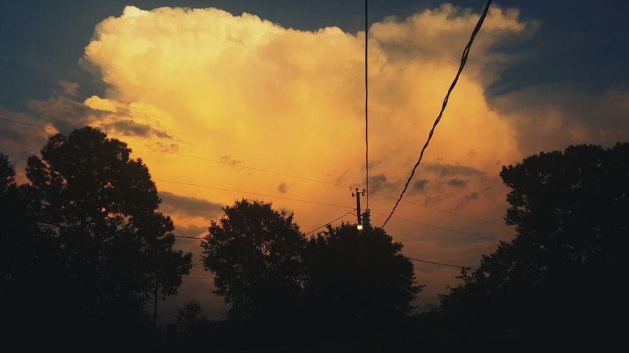 Right Here Right Now Power Line  Sunset Power Supply Beauty In Nature Louisiana Louisiana Skies Sunset_collection Louisianaphotography Louisiana Sunsets Tree And Sky Cellphone Photography Outside My Door