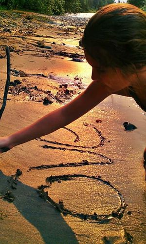 Fine Art Photography drawing in the lines Drawing In The Sand  Kidsart Daughters Love Summertime Love Sunset_collection Fire Sunset Red Sundown