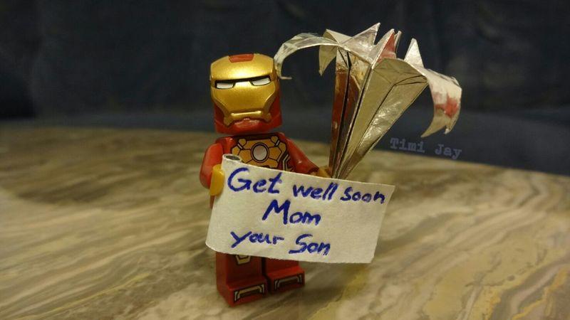Anstatt einer Karte :) Getwellsoon Mom Origami LEGO