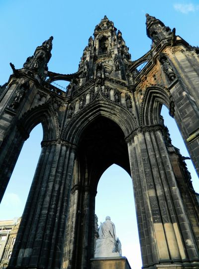 Architecture Built Structure Edinburgh Famous Place History Low Angle View Perspective Walterscott