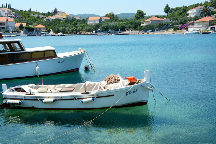 Korchula. Croacia Croacia Tourist Destination Tourist Attraction  Tree Water Nautical Vessel Sea Moored Harbor Yacht Beach Waterfront Sky Motorboat Marina