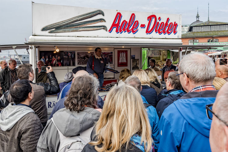 Hamburg Fish Market Aale Dieter Adult Adults Only Crowd Day Hamburg Harbour Hamburger Fischmarkt Large Group Of People Market Marketplace Men Outdoors People Real People Sales Location Togetherness Tourist Attraction  Tourists Women