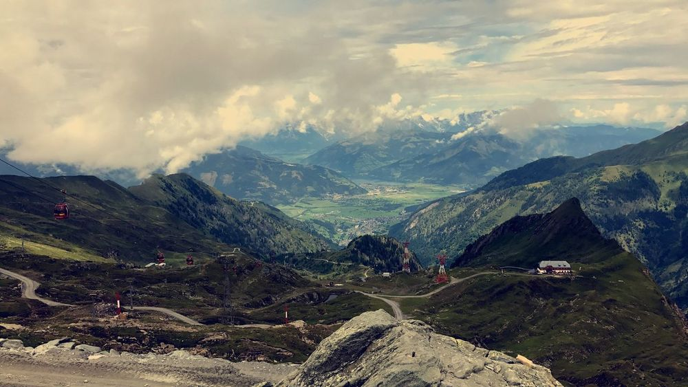 Mountain Landscape Nature Mountain Range Cloud - Sky Scenics Sky Tranquil Scene Beauty In Nature No People Tranquility Outdoors Day Road Nature Travel Destinations Leisure Activity Clear Sky Austria Perspectives On Nature EyeEmNewHere