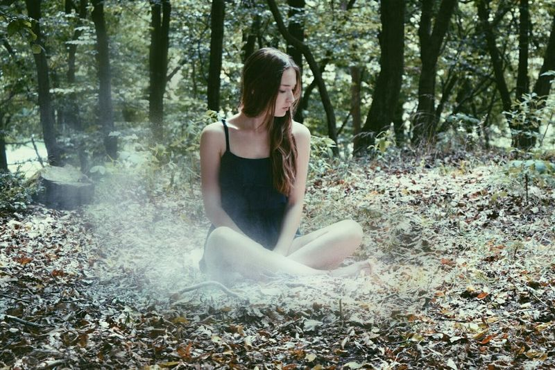 Smoke - Physical Structure Nature Forest Beauty Ich Me Hello World Long Hair Girl Young Women That's Me Travel Adventure Smoke Powder Young Photography Photooftheday Mistery Misterious Sexygirl Hideyoface Blue New Young Adult