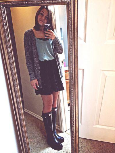 Selfie Hunter Boots Almost Spring School
