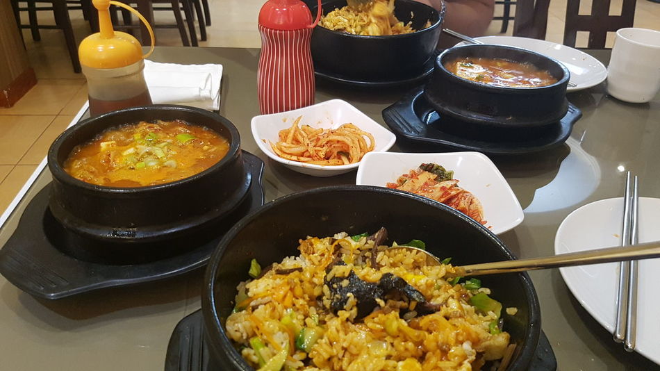 Lunch 비빔밥 김치찌개 Korean Food Korean Garden Chinese Friend