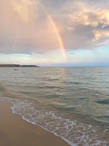 Costa Sud - Sicilia Nature_collection Sicilia Sicily Siciliabedda Nature Sky And Clouds Sea Beauty In Nature Water Rainbow Scenics - Nature Land Beach Sky Horizon Over Water Cloud - Sky Tranquil Scene Tranquility Horizon Idyllic Nature Multi Colored Wave Sand No People Outdoors