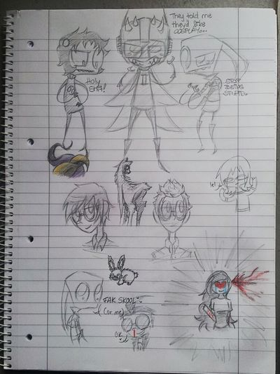i was bored in school and drew this.. Invader Zim Homestuck Drawing My Drawings