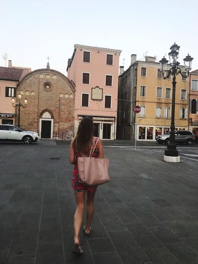 Chioggia Architecture City One Person Building Exterior Real People Built Structure Full Length Lifestyles Leisure Activity
