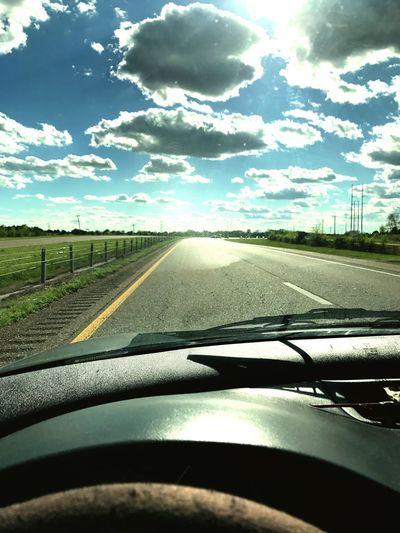 Highway to heaven Car Sky Travel First Eyeem Photo