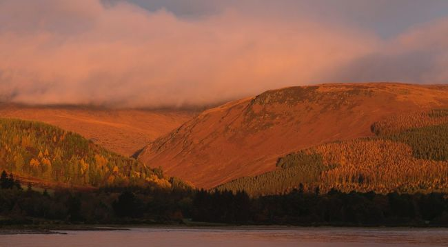 No Filter Beauty In Nature Mountains And Sky Arran  Isle Of Arran  Autumn Hills Orange Color Outdoors Gillian McBain Photographer Canonphotography Pantone Colors By GIZMON No People Scotland Nature Nature_collection Naturelovers Landscape Morning Light Morning Tranquility Feel Good Back To Nature Look Up Go Outside Fresh Air...