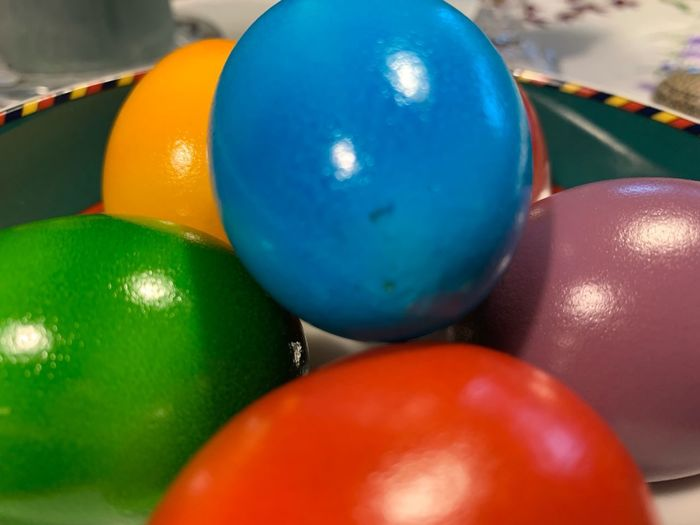 Close-up of multi colored balls