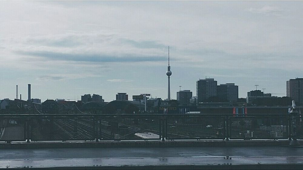 Berlin Fernsehturm Berlin  Warschauerbrücke Warschauer Straße Landscape