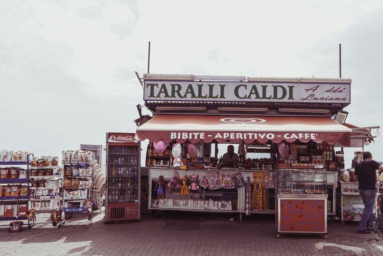 Taralli Caldi Street Food Naples Napoli Architecture Built Structure Building Exterior Sky Text Script Nature Communication Cloud - Sky Travel Destinations Incidental People Tourism