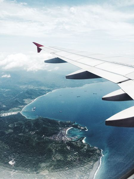 From An Airplane Window Bali Traveling