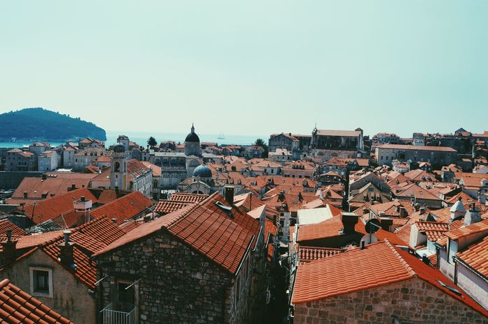 Architecture Built Structure Roof City Building Exterior Sky Travel Sunset Travel Destinations No People Outdoors Urban Skyline Cityscape Day Cultures Red Dubrovnik Croatia Travel
