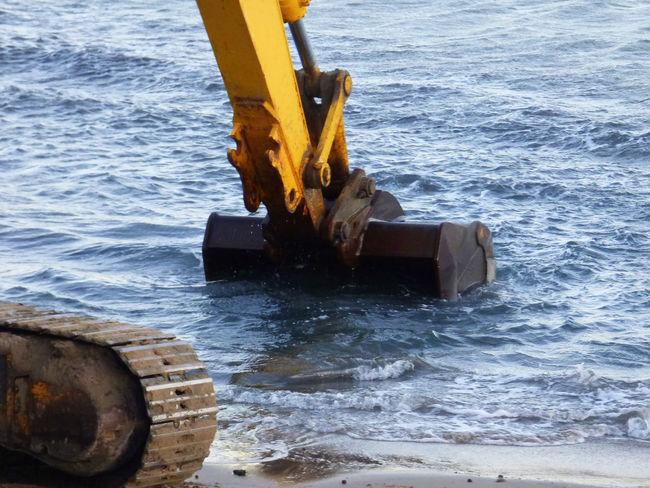 Dredging Work On A Beach Bulldozer Cleaning Machine Machine Part