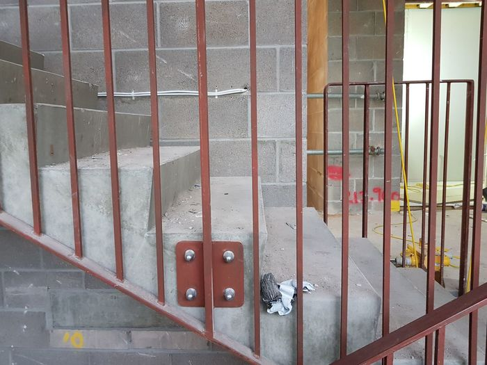 Staircase Stairs Construction Site Building Site Construction Site Craft Trade Blocks Breeze Indoors  Renovation Metal Close-up Architecture Built Structure Steps Stairway Bannister Hand Rail
