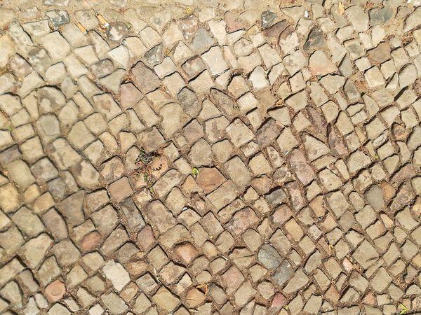 Gehweg Pflasterstein Pflastersteine Pflastersteingehweg Backgrounds Full Frame Textured  Pattern Rough Close-up Ground Stone - Object Cobbled Cobblestone Stone Tile