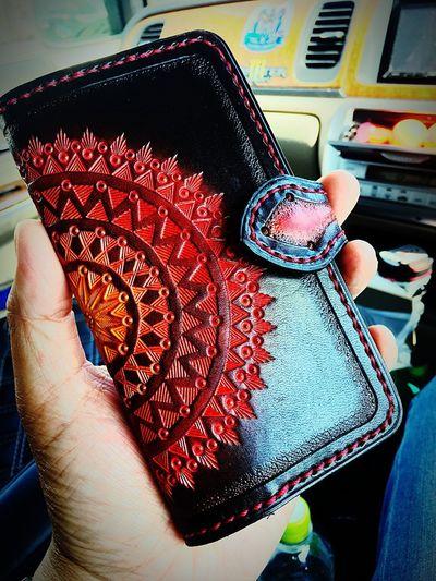 My iPhone case IPhone Case 皮 Hand ハンドメイド作品