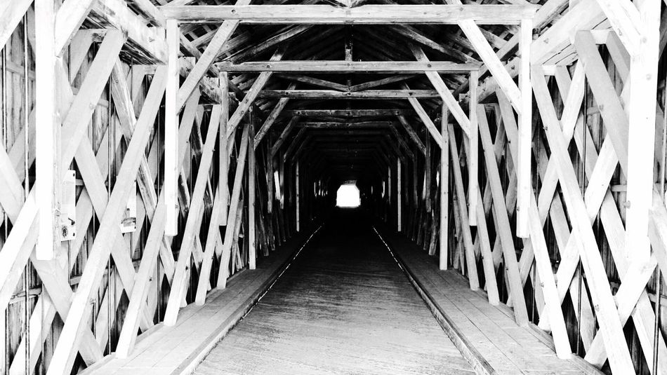 Old Bridge The Way Forward Architecture Built Structure Day No People Indoors  Into The Light The Light At The End Of The Tunnel Blackandwhite Wood Dark EyeEm Gallery EyeEm Best Shots DSLR No Phone Licht Tunnel Fahrrad Week On Eyeem