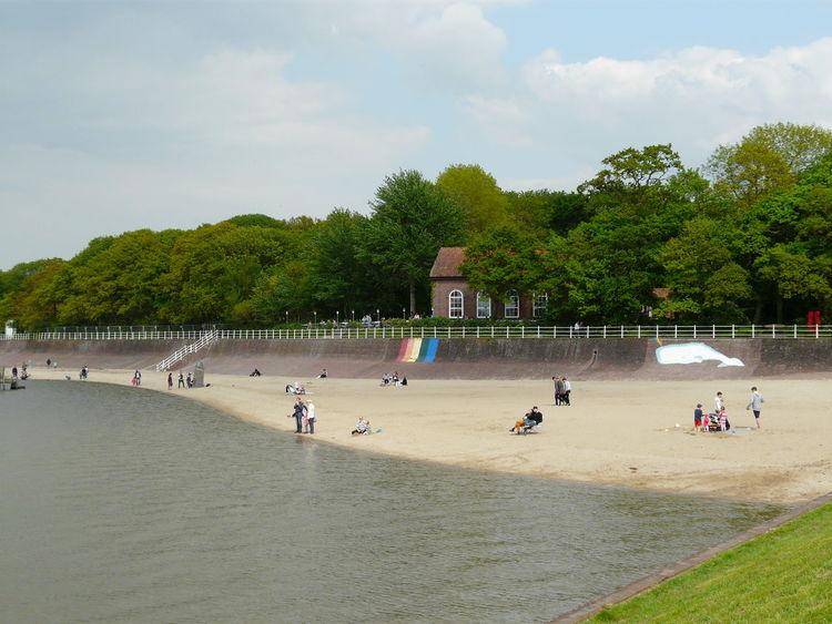 Altes Kurhaus Beach Dangast Nordseeküste Outdoors Sand Strand Water