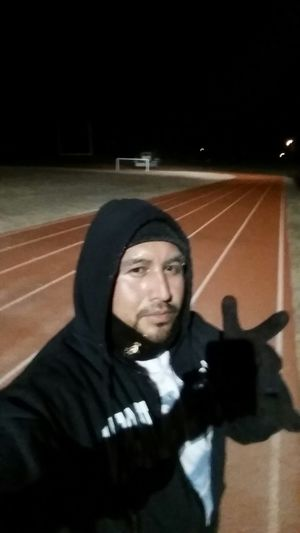 That's Me Running Track Check This Out Enjoying Life Taking Photos First Eyeem Photo The Five Senses Vanishing Point Taking Photos New Jersey Sefl Portrait