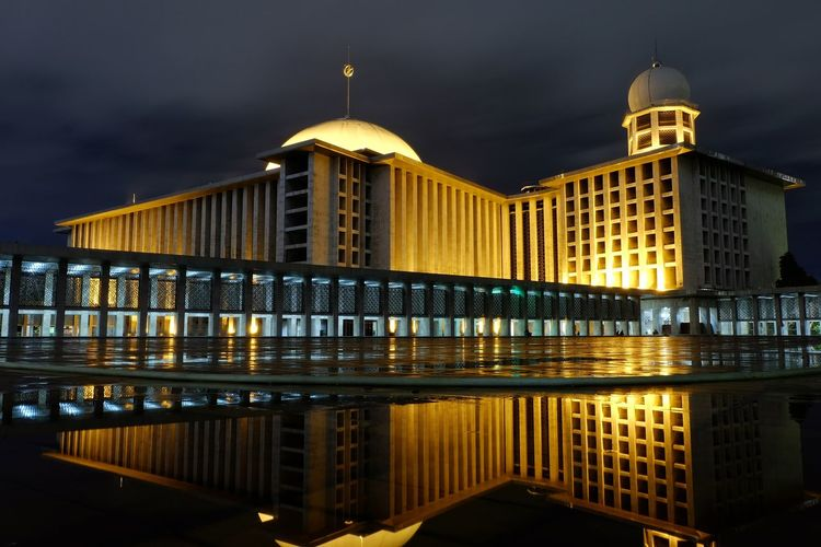 Masjid Istiqlal.Night Reflection Cityscape City Sky Architecture Travel Destinations First Eyeem Photo