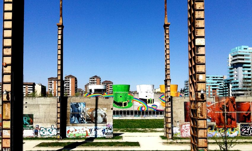 Park Graffiti Walking Around