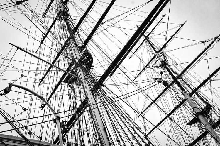 LONDON❤ Greenwich,London Cutty Sark Cutty Sark Greenwich.  Ferreira Low Angle View Sky No People Ferris Wheel Nature Day Complexity Nautical Vessel Outdoors Mast Pole Rope Clear Sky Sailboat Transportation Ship Amusement Park Ride Pattern Architecture Mode Of Transportation Fairground