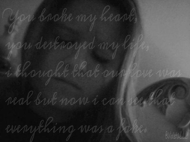 Black & White That's Me Self Portrait Sadness
