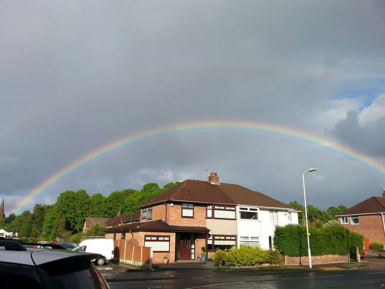Beauty In Nature Brightside Building Exterior Dark Skies Darkness Double Rainbow House North West England Northern Living Rainbow Thunderstorm