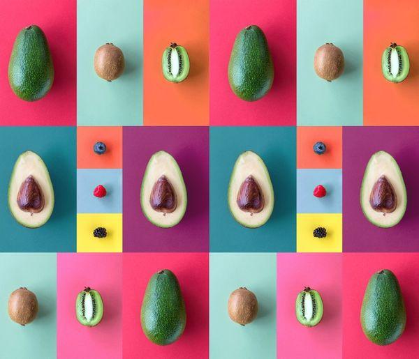 Avocado, kiwi
