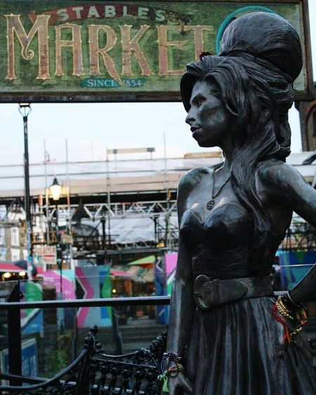 Your Ticket To Europe EyeEmNewHere Tourism City Life Street Art Arts Culture And Entertainment Londonlife LONDON❤ London Candem Town Amywinehouse CandemTown Candem Candemlock Sculpture