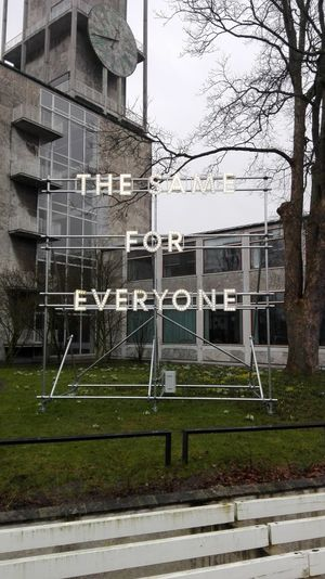 Equality for all Built Structure Architecture Outdoors Day Grass Sky Aarhus, Denmark Coast To Coast. ... Nathan Coley Scottish Raining Day But Enjoying It Still Very Windy With My Sister And A Friend We Are All The Same Denmark 🇩🇰🇩🇰🇩🇰 Freakingcold Why Does It Have To Rain Come On Spring!
