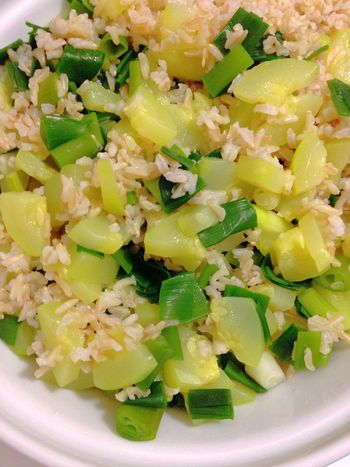 Rice with Zucchini and Green Onion Vegetarian Food 365 Photos In 2015 Healthy Food Vegetables Dinner