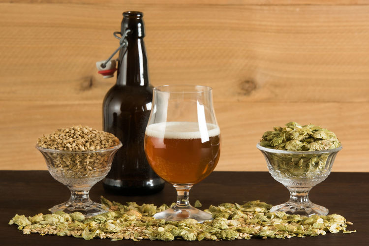 Beer Ingredients On A Table