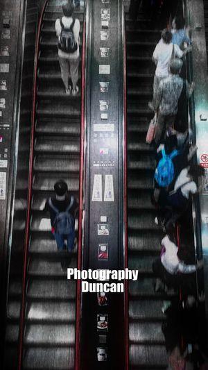 出口 (Photography XperiaZ1) Mrt Station Black & White Taipei Station Escalator