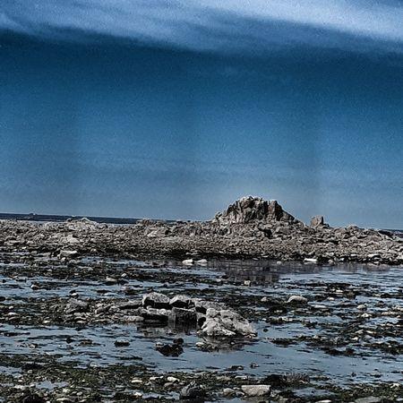 sillon de Talbert à marée basse Côtes D'Armor Sillon De Talbert Bretagne Bretagne France Sea Water Sea Life Blue Rock - Object Sky Tranquil Scene
