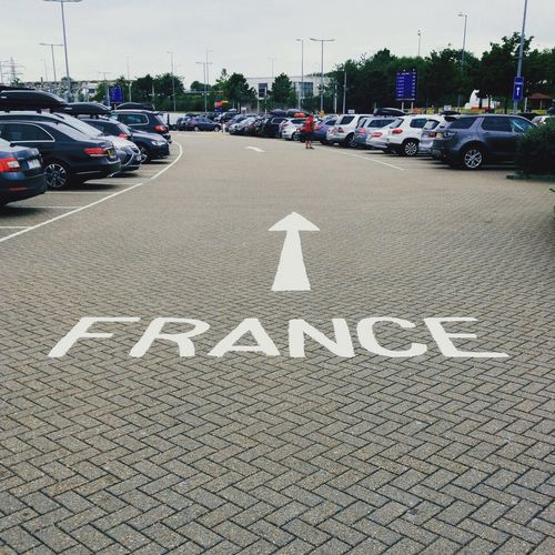 Channel Tunnel France Road Marking England Folkstone Traveling Home For The Holidays Let's Go. Together. EyeEmNewHere