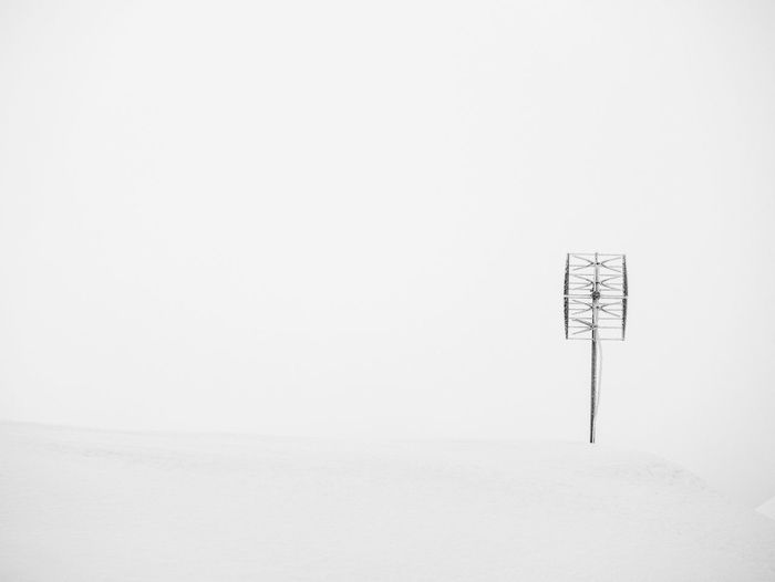 Snow over white background