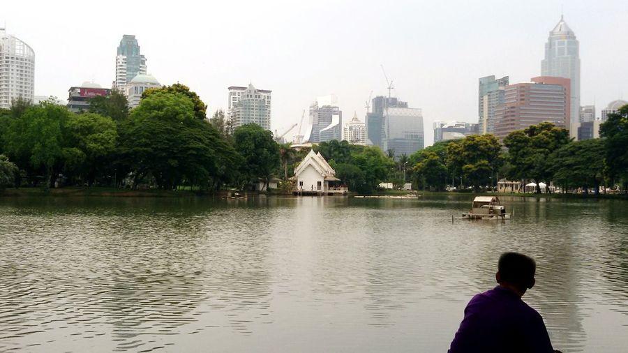 Sawasdee World. Lumphini Park Veiw Silhouettes Of A City Relaxing Enjoying Life Taking Photos EyeEm Thailand .