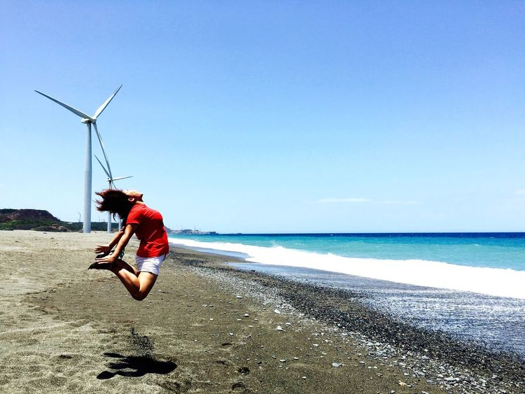 My Country In A Photo Windmills and Beach Of Bangui, Ilocos Norte Philippines 💕