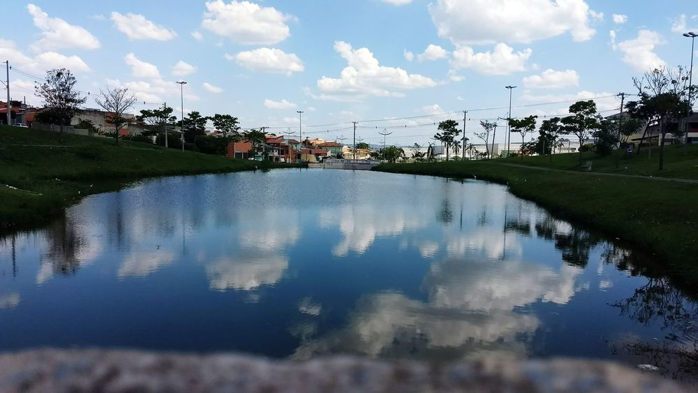 Reflection Cloud - Sky Water Lake Sky Outdoors Building Exterior No People Nature Day