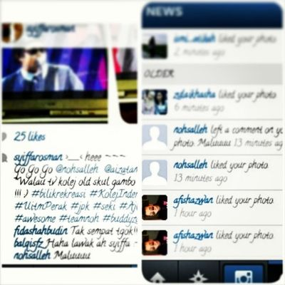 "Weeeeee~~~~ @nohsalleh comment plus like gambaq kat instagramku ^^ *Maaf kerana jakun sebab terjua tahap giga punya its Noh Hujan tuu Lejen tak hengat r ! :) :) :) Dulu @mizznina1780 double tap now Noh waaaa awesome !!! ^_^ I wish they follow me back *tapi apakan daya siapa aku diorang nak follow back ^^"""""" Alltimefav Music Singer  Malaysia lokalah teamnoh hujanforlife diehardfans"