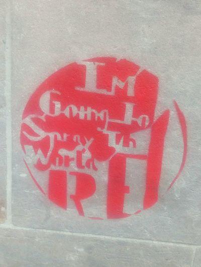 Close-up Outdoors Red Graffiti Czech Republic
