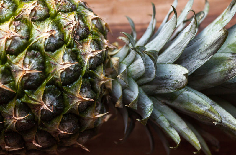 Close-Up Of Pineapple On Table